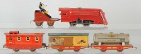 Lot Of 5: Lionel Mickey Mouse Freight Set.