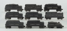 Lot Of 9: Lionel Tenders.