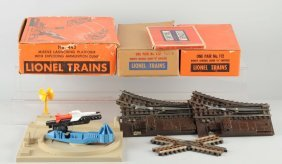 Lot Of 3: Lionel Launching Platform And Switches.