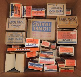 Large Grouping Of Post War Accessorie Empty Boxes.