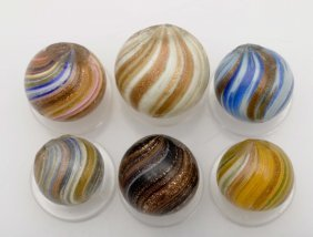 Lot Of 6: Lutz Marbles.