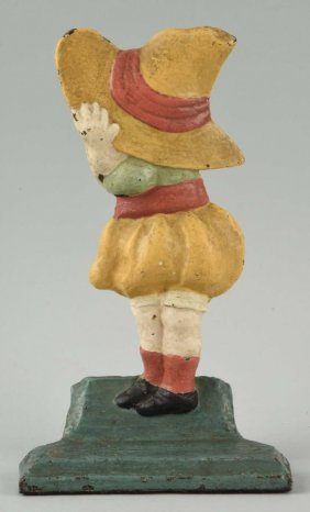Cast Iron Sun Bonnet Girl Doorstop.