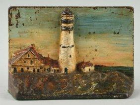 Cast Iron Larger Lighthouse Doorstop.