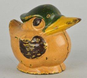 Kenton Round Duck Cast Iron Still Bank.