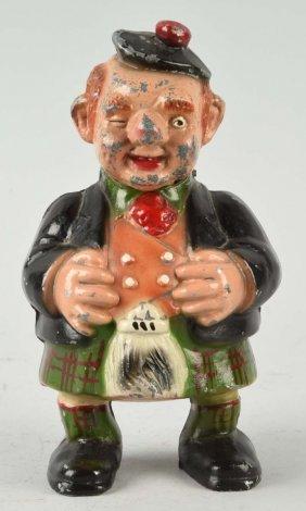 Diecast Scotsman Nodding Mechanical Bank.