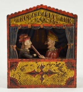 Shepard Hardware Punch & Judy Mechanical Bank.