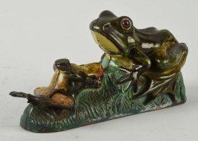 J. & E. Stevens Two Frogs Mechanical Bank.