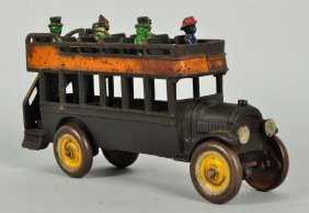 Kenton Double Decker Cast Iron Bus.