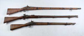 (a) Lot Of 3: Percussion Muskets.