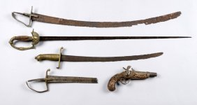 (a) Lot Of 5: Excavated Weapons.