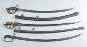 Lot Of 3: Cavalry Sabres.