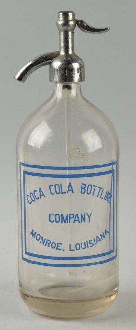 Monroe, Louisiana Coca-cola Seltzer Bottle.