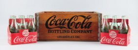 Lot Of 3: Coca-cola Crate W/ Two Six Packs.