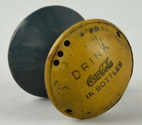1930's Coca-cola Rolling Metal Toy.
