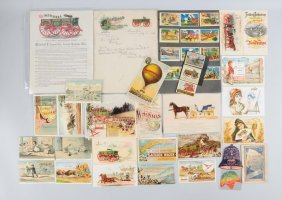 Lot Of 20+: Wagon Adv. Trade Cards & Brochures.