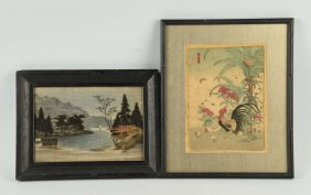 Lot Of 2: Japanese Paintings.