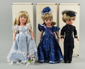 Lot Of 3: Boxed Contempory Mary Hoyer Dolls.