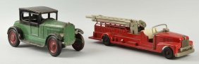 Lot Of 2: American Vehicle Toys.