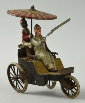 Lehmann Tin Litho Wind Up Toy New Century Cycle.