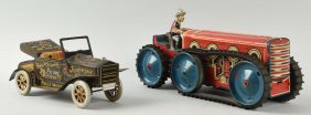 Lot Of 2: Marx Tin Litho Vehicles.