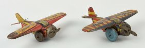 Lot Of 2: Japanese Tin Pre War Swallow Airplanes.