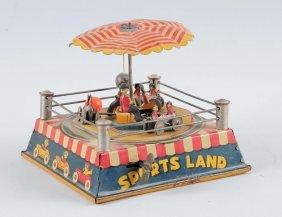 Sports Land Tin Litho Wind Up Toy.