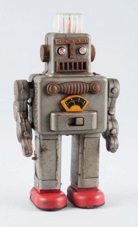 Japanese Tin Battery Operated Smoking Space Man