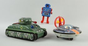 Lot Of 3: Space Toys & Tank.