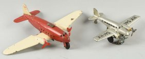 Lot Of 2: German Wind Up Airplane Toys.