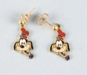 Disney Goofy Earrings.