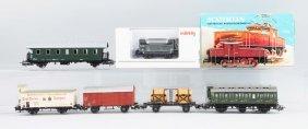 Lot Of 6: Marklin Locomotive & Cars.