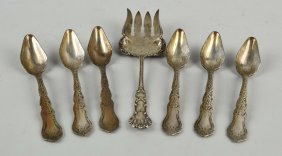Lot Of 6: Silver Plated Grape Fruit Spoons.