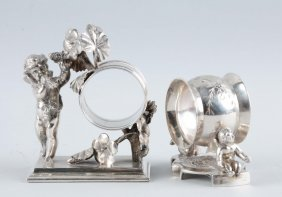 Lot Of 2: Victorian Silver Napkin Rings.