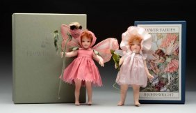 Lot of 2: R. John Wright Flower Fairies Dolls in Boxes.
