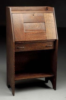 Early Gustav Stickley Drop Front Desk.