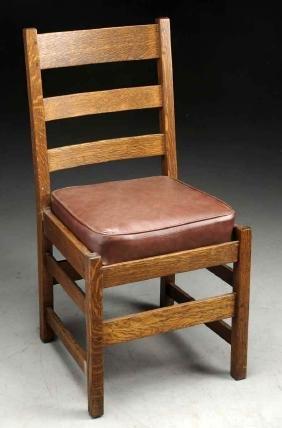 L&jg Stickley Ladder Back Side Chair No. 360.