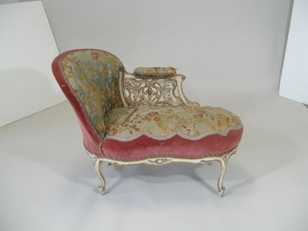 1035 chaise louis xv style lot 1035 for Chaise louis xv