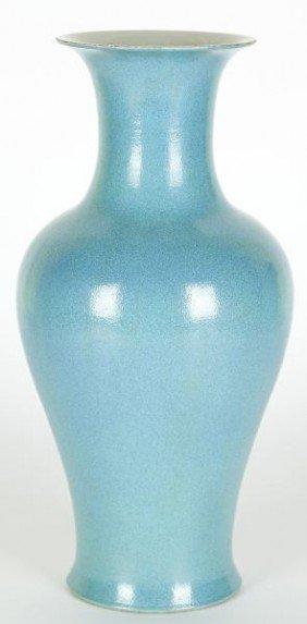 Chinese Porcelain Robin's Egg Baluster Vase