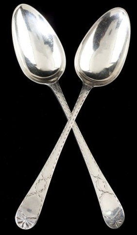 Pair Of George III Silver Tablespoons