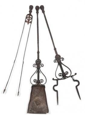 Italian Baroque Style Fire Tool Set