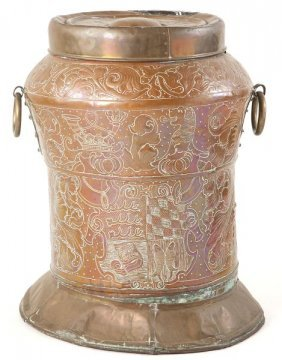 Copper Spanish Storage Vessel