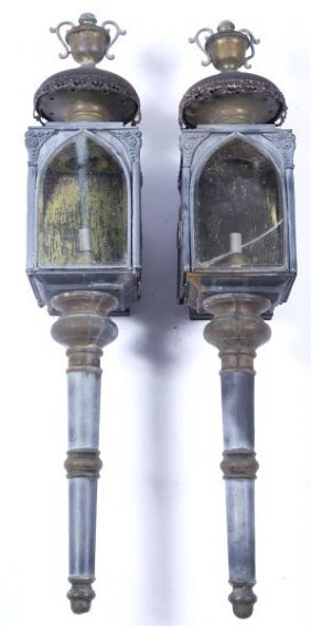 Pair Of Carriage Style Lanterns