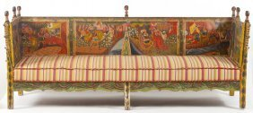 Italian 18th Century Style Panel Settee