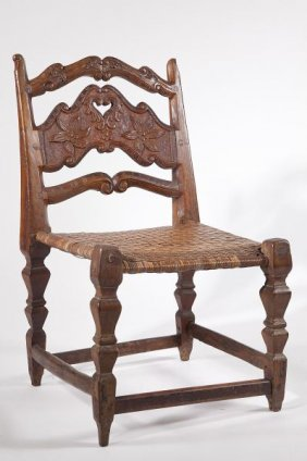 Spanish Walnut Side Chair