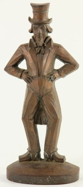 "Bronze ""Uncle Sam"" Doorstop"
