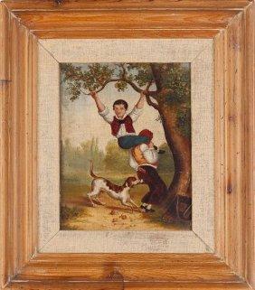 Baltimore School Folk Art Painting, 19th Century