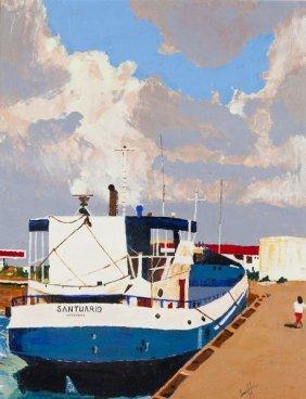 """Louis Rubin (NC), """"Cargo Launch - Aruba"""""""