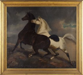 Style Of Rosa Bonheur (19th C.), Two Horses
