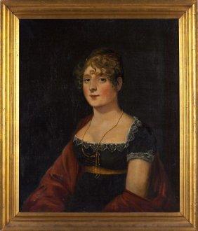 English School Portrait Of A Lady, Circa 1810