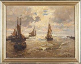 German Grobe (German, 1857-1938), Harbor
